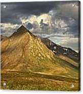 Angelcomb Mountain Lit By Late Acrylic Print