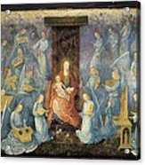 Angelical Concert. 15th-16th C. Flemish Acrylic Print by Everett