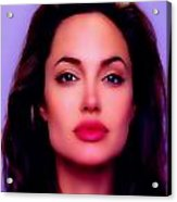 Angelina Jolie Beautiful Lips Acrylic Print