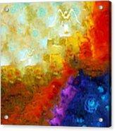 Angels Among Us - Emotive Spiritual Healing Art Acrylic Print