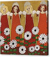 Angels And Dasies Acrylic Print