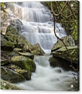Angels At Benton Waterfall Acrylic Print by Debra and Dave Vanderlaan