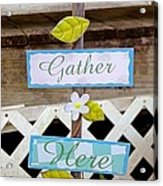Angels Gather Here Acrylic Print