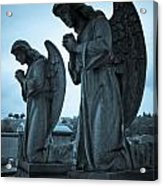 Angels In Prayer Acrylic Print by Amy Cicconi