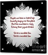Angels We Have Heard On High Snowflake Acrylic Print
