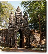 Angkor Thom North Gate 02 Acrylic Print