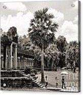 Angkor Wat Bw II Acrylic Print