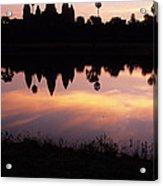 Angkor Wat Sunrise Cambodia Acrylic Print
