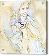 Angle With Dove Photoart Acrylic Print
