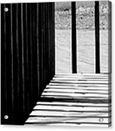 Angles And Shadows - Black And White Acrylic Print