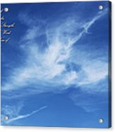 Angels In The Sky Acrylic Print