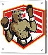 Angry Bear Boxer Boxing Retro Acrylic Print