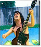 Angus Young Of A C D C At Day On The Green Monsters Of Rock  7-21-79  Acrylic Print