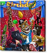 Animal Birthday Party Acrylic Print by Martin Davey