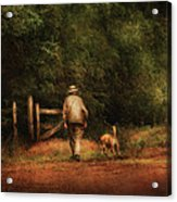 Animal - Dog - A Man And His Best Friend Acrylic Print