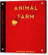 Animal Farm Book Cover Poster Art 2 Acrylic Print