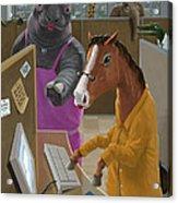 Animal Office Acrylic Print