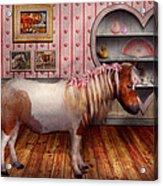 Animal - The Pony Acrylic Print by Mike Savad