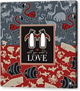 Animals And Love Acrylic Print