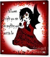 Anime Little Girl Vampire Acrylic Print by Eva Thomas