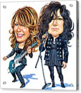 Ann And Nancy Wilson Of Heart Acrylic Print