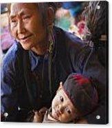 Ann Tribal Grandmother - Kengtung Burma Acrylic Print by Craig Lovell
