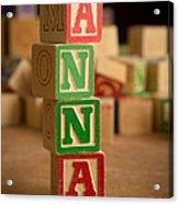 Anna - Alphabet Blocks Acrylic Print