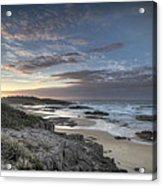 Anna Bay Sunrise Acrylic Print by Steve Caldwell