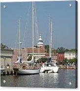 Annapolis Harbor Alongside Dock Street Acrylic Print