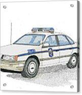 Anne Arundel County Police Acrylic Print by Calvert Koerber