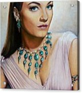Anne Baxter In Ten Commandments  @ Ariesartist.com Acrylic Print