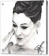 Anne Hathaway Acrylic Print