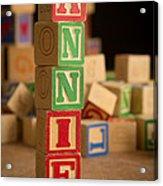Annie - Alphabet Blocks Acrylic Print