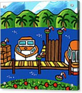 Annie's Dock - Cedar Key Acrylic Print