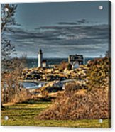 Annisquam Lighthouse Late Autumn Acrylic Print