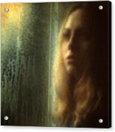 Another Face In A Window Acrylic Print by Taylan Apukovska