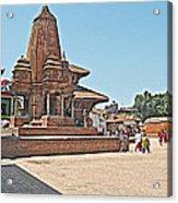 Another Hindu Temple N Bhaktapur Durbar Square In Bhaktapur -nepal Acrylic Print