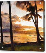 Another Maui Sunset - Pastel Acrylic Print