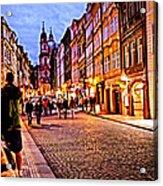 Another Prague Night - Czech Republic Acrylic Print