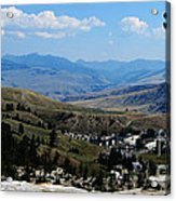 Another View From Mammoth In Yellowstone Acrylic Print