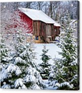 Another Wintry Barn Acrylic Print
