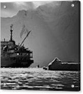 Antarctican Expedition 2013.  Ship Name Acrylic Print