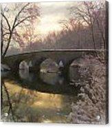 Anteitam Burnside Bridge In Spring Snow Acrylic Print