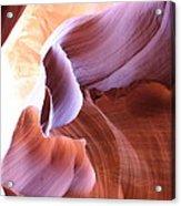 Antelope Canyon Colorful Waves Acrylic Print
