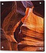 Antelope Canyon Textures Acrylic Print