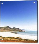 Antelope Island And Utah Vertical Acrylic Print