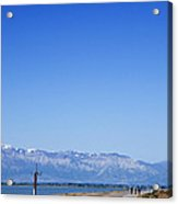 Antelope Island Causeway Utah  Acrylic Print
