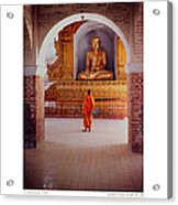 Anthony Howarth Collection - Gold - Saffron And Gold - Burma Acrylic Print