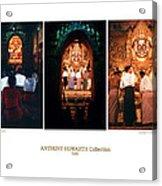 Anthony Howarth Collection - Gold - Simply Buddha? Mandalay Acrylic Print