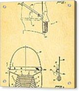 Anti Eating Mask Patent Art 1982 Acrylic Print by Ian Monk